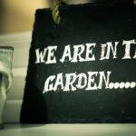 schoolbord, bezoek, afstand, Zorg In De Tuin